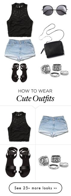 """""""Cute outfit"""" by snhollick on Polyvore featuring Abercrombie & Fitch, H&M and Wood Wood"""