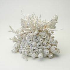 crocheted bleached coral garden by Helle Jorgensen this lady is amazing