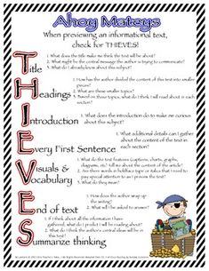 Before a Close Read...Use THIEVES!