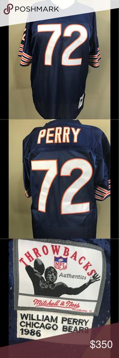 half off 2a7b9 037ff mens chicago bears 72 william perry white retired player nfl ...