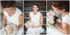 Wedding in Drøbak, Oscarsborg Fortress. Bridal portrait with beautiful pink wedding bouquet // Bryllup i Drøbak på Oscarsborg festning. Portrett av bruden med vakker, rosa brudebukett