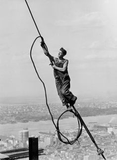 Icarus atop Empire State Building, New York, 1931