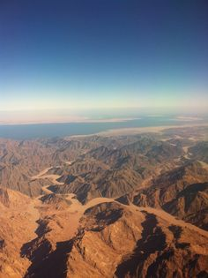 Flying over Sinai Mountains