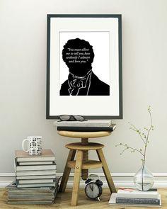Jane Austen Print - Mr Darcy Proposal Quote - $19.95