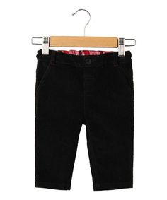 Look what I found on #zulily! Black Corduroy Trouser Pants - Infant, Kids & Tween by Beebay #zulilyfinds