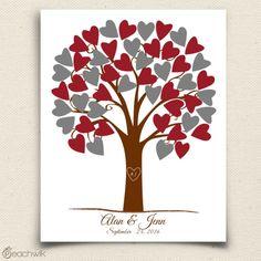 Heartwik Wedding Tree Guestbook Alternative - Wedding Wish Tree - By Peachwik
