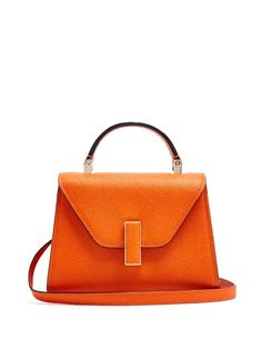 VALEXTRA Iside Mini Grained-Leather Bag. #valextra #bags #shoulder bags #hand bags #leather #metallic #