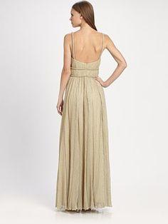 ABS - Crisscross Necklace Gown - Saks.com