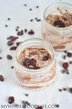 Cherry Chocolate Overnight Oats