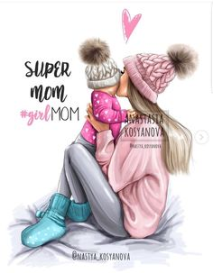 Baby Drawing Illustration Art New Ideas Mother Daughter Art, Mother Art, Mom Son, Daughter Quotes, Best Friend Drawings, Girly Drawings, Baby Girl Drawing, Mom Drawing, Drawing Sketches