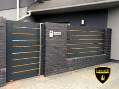 House Fence Design, House Main Gates Design, Front Wall Design, Fence Gate Design, Steel Gate Design, Grill Door Design, 3 Storey House Design, Gate Designs Modern, Modern Fence Design