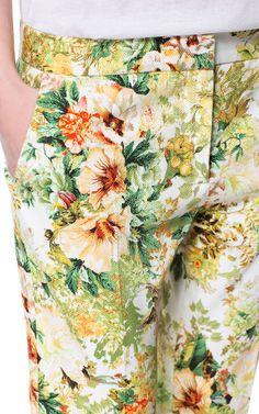 ZARA 2013 Flower Floral PRINTED CROPPED TROUSERS (M, L, XL) Ref. 7458/046 #ZARA #CaprisCropped