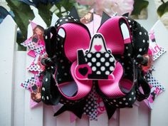 Paris Glamour Boutique Stacked Hair Bow /Birthday