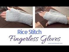 Knitted Fingerless Gloves | A Quick and Easy Knitted Project | Fingerless Mitts - YouTube