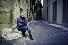 Massimo #Sicily #Palermo #street #StreetPhotography #smoking #contemplation #blond #blue