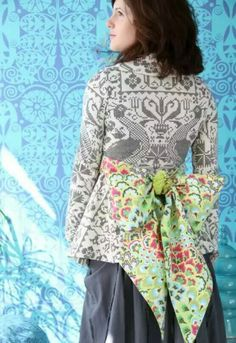 Jacket made from Amy Butler fabric. Love it!