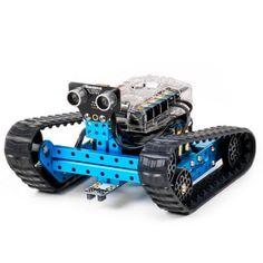 The mBot Ranger Robot Kit is a STEM educational robot kit which supports 3 building forms: robot tank, racing car, and a self-balance car. Program & Control mBot Ranger via iPad, tablets, or laptop to start your exploration! Robot Kits, Diy Robot, Ranger, Bluetooth, Arduino Mega 2560, Robot Platform, Programmable Robot, Intelligent Robot, Industrial Robotic Arm