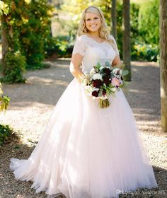 Let charming plus size gowns on DHgate.com get your heart. Besides, plus size wedding dress and red and white wedding dresses are also winners. blush pink peplum wedding dress lace long sleeved puffy tulle skirt crystal beaded jewel neck plus size bridal gowns sleeves elegant belong to you and gardeniadh can cheer you up.