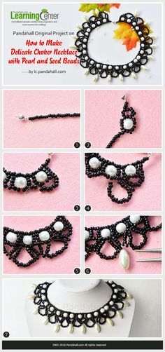 Pandahall Original Project on How to Make Delicate Choker Necklace with Pearl and Seed Beads from LC.Pandahall.com