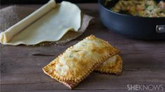 Have lunch on the go with these 30-minute chicken pot pie in hot pockets