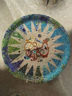 Barcelona, mosaic in Park Guell | Flickr - Photo Sharing!