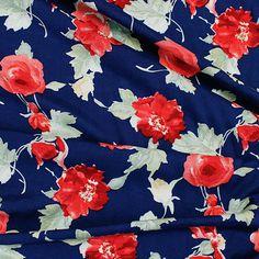 Sew Over It Online Fabric Shop - Scottish Rose Garden Royal Blue - Rayon Sew Over It, Royal Garden, Fabric Shop, Royal Blue, Gardening, Colours, Sewing, Rose, Dressmaking