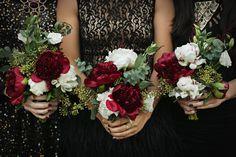 red peony winter bouquets   Photo by Jenny Jimenez