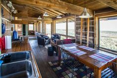 A two-story 700-square foot cabin in Idaho. | Andrew's Social Media