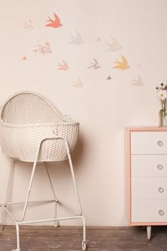 Muted pastels for a baby's room
