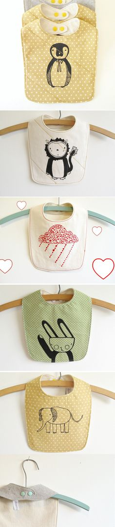 Love these bibs. Made of organic & recycled materials.