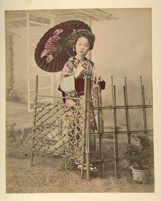 Japanese Album by A. Farsari & Co, Ajuntament de Girona, Public Domain Landscaping Images, Hand Coloring, Cowboy Hats, Japanese, Album, Public Domain, Photography, Portraits, Photograph