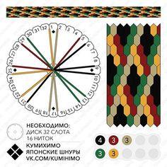 Kongō-gumi 16 threads. More 16 threads pattern  #kongō16 #кумихимо #kumihimo #kongogumi #組紐 #くみひも #金剛組 #こんごうぐみ
