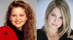 Candace Cameron then and now (by pure coincidence this is also the way my hair looks now and the exact hair cut and color I want to go to.