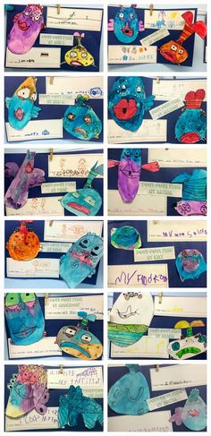 Pout-Pout Fish directed drawings by Deanna Jump.  Kindergarten ocean unit!