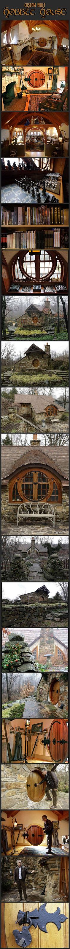 A custom built Hobbit house that is too cool for words.