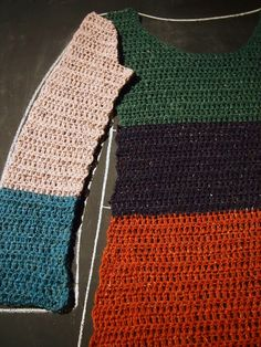 VMSomⒶ KOPPA: Crocheted colorful tunic