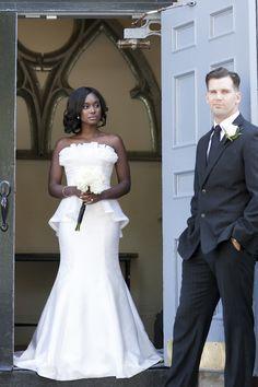 pretty peplum wedding dress