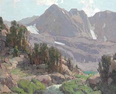 Edgar Alwyn Payne (1882-1947). High Sierra Landscape, Big Pine Canyon. Oil on Canvas. 2