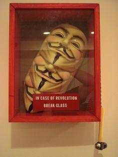 In Case Of Revolution Break Glass | V For Vendetta  Cool movie