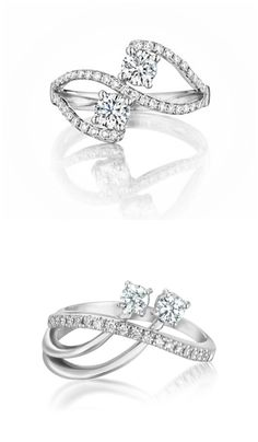 Two beautiful A. Link and Co rings featuring Forevermark diamonds.