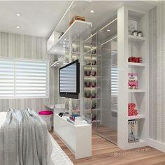 """3,114 curtidas, 21 comentários - SNAP: decorcriative (@decoreinteriores) no Instagram: """"Detalhes desse quarto lindo! A transparência do closet ficou um arraso ❤️ autoria: Arquiteta…"""""""