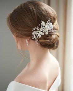 Hair Clips & Pins Beauty & Health New Fashion Ladies Silver Rhinestone Bridal Wedding Flower Pearls Headband Hair Clip Comb Hottest For Sale