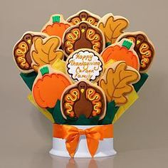 Thanksgiving Cookie Bouquet