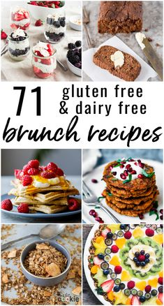 Spring is the perfect time for brunch with family and friends! Here is my roundup of 70 amazing gluten free and dairy free brunch recipes with plenty of vegan paleo and nut free options Dairy Free Breakfasts, Gluten Free Recipes For Breakfast, Vegan Brunch Recipes, Party Recipes, Healthy Breakfasts, Recipes Dinner, Keto, Easter Brunch, Easter Food