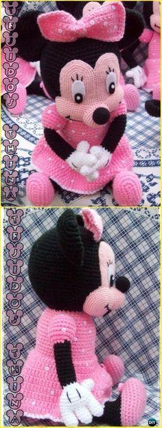Crochet Minnie Mouse Amigurumi Free Pattern - Amigurumi Crochet Mouse Toy Softies Free Patterns