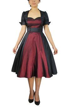 Chic Star Retro Contrast Swing Dress