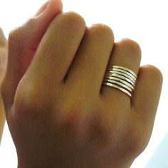 Two Tone Ring Gold and Silver Ring Set Stacking Ring Set Minimalist Rings Hammered Stacking Rings Mixed Metal Rings Set Stackable Gold Rings Gold And Silver Rings, Silver Stacking Rings, Gold Filled Jewelry, Gold Jewelry, Jewelry Accessories, Jewlery, Jewellery Box, Luxury Jewelry, Jewelry Trends