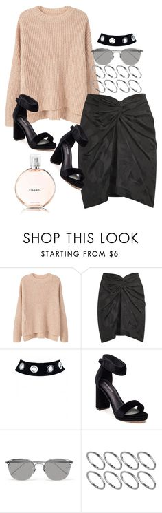 """""""Untitled #2160"""" by sarah-ihab ❤ liked on Polyvore featuring MANGO, Isabel Marant, Jeffrey Campbell, Linda Farrow, ASOS and Chanel"""