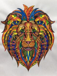 Lion Face - Art by Martha Stevenson, click on link to see her work.