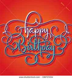 HAPPY BIRTHDAY hand lettering -- handmade calligraphy, vector (eps8) - stock vector #download #stock #StockImages #microstock #royaltyfree #vectors #calligraphy #HandLettering #lettering #design #letterstock #silhouette #decor #printable #printables #craft #diy #card #cards #label #tag #sign #vintage #typography
